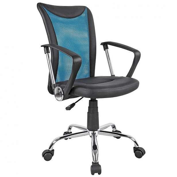 Otočná Židle Vanessa modrá - 47 x 88,5 - 98,5 x 54 cm