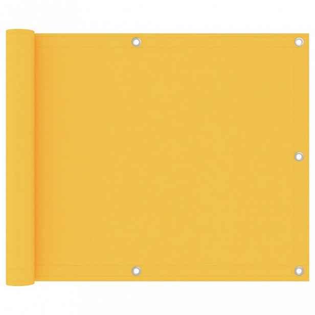 Balkónová zástěna 75 x 400 cm oxfordská látka Žlutá