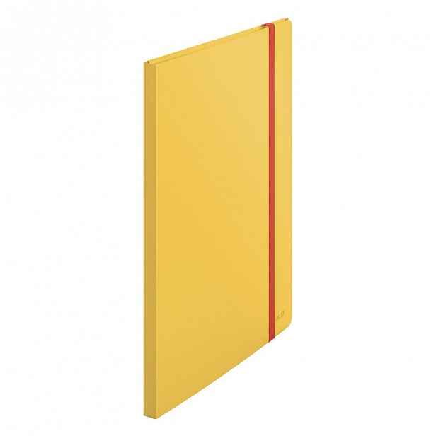 Žlutá katalogová kniha Leitz Cosy, A4