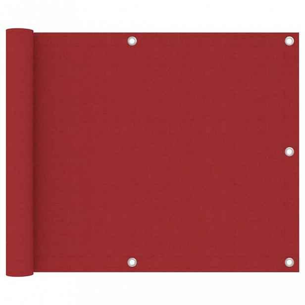 Balkónová zástěna 75 x 400 cm oxfordská látka Červená