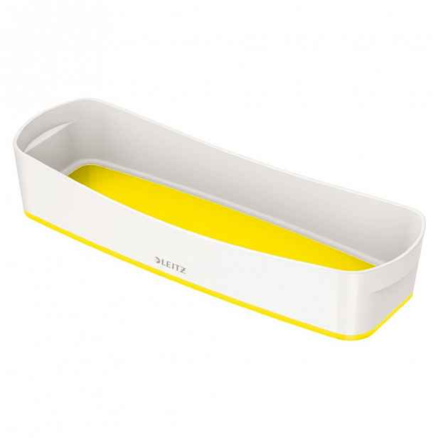 Bílo-žlutý stolní organizér Leitz MyBox, délka 31 cm