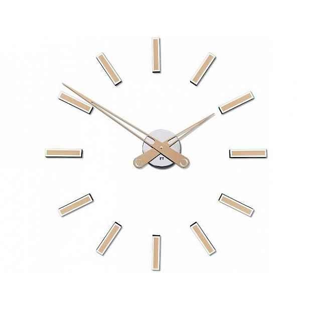 Designové nalepovací hodiny Future Time FT9600CM Modular champagne 60cm