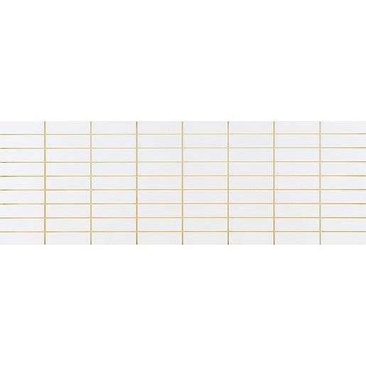 Dekor Fineza Velvet cool white prořez 25x73 cm lesk MVELVETCWH