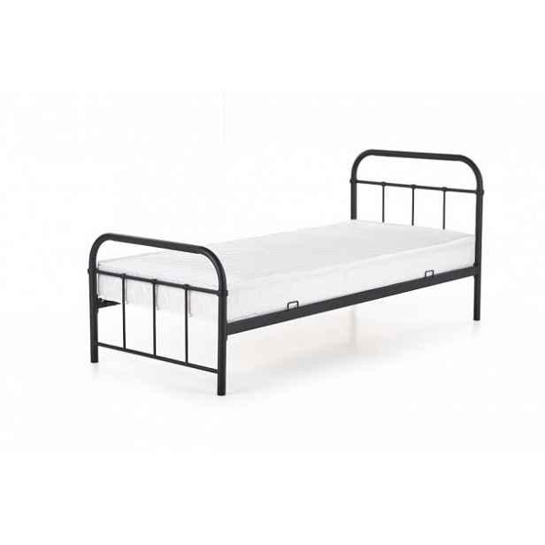 Kovová postel Niko 90x200, černá