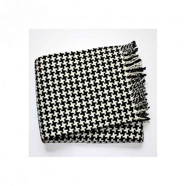Černo-bílá deka Euromant Pearls, 140x180cm