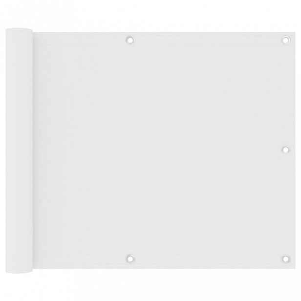 Balkónová zástěna 75 x 300 cm oxfordská látka Bílá