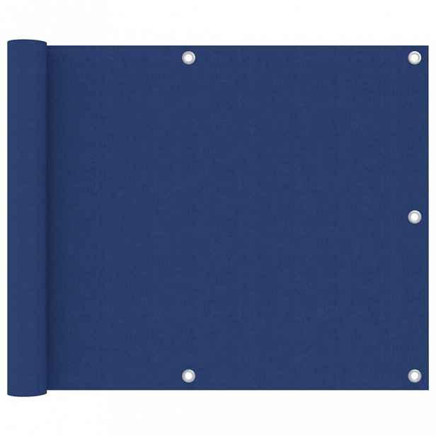 Balkónová zástěna 75 x 300 cm oxfordská látka Modrá