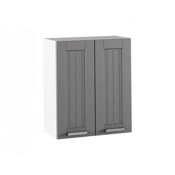 Horní skříňka JULIA TYP 6, tmavě šedá/bílá