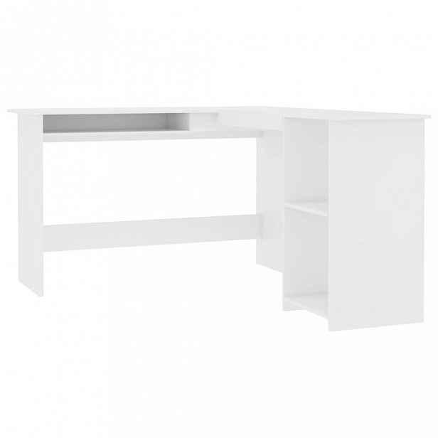 Rohový psací stůl 120x140 cm Dekorhome Bílá