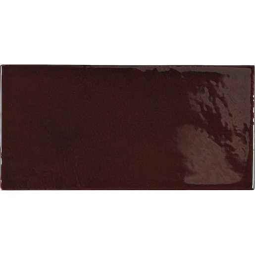Obklad Equipe VILLAGE walnut brown 6,5x13 cm lesk VILLAGE25627
