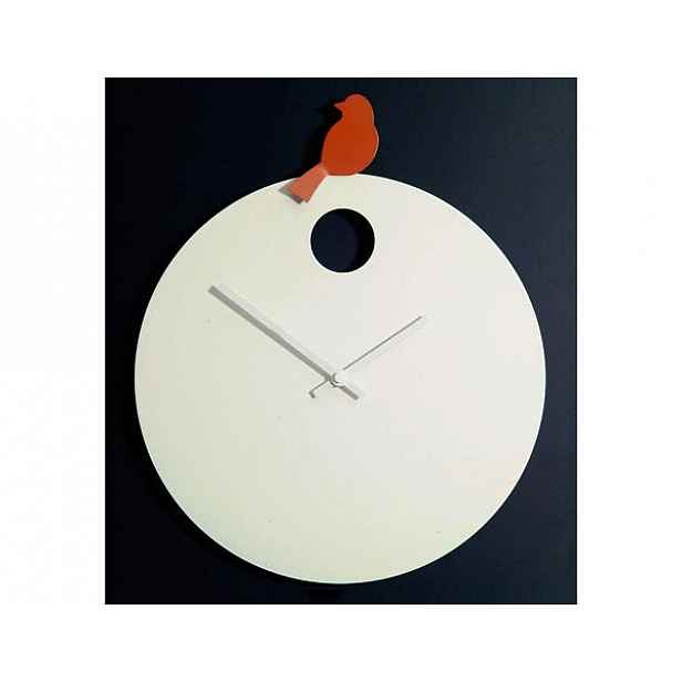 Designové nástěnné hodiny Diamantini&Domeniconi 394 orange Bird 40cm