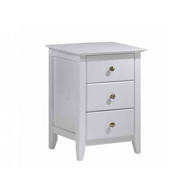 Noční stolek, bílá, JAVA 4