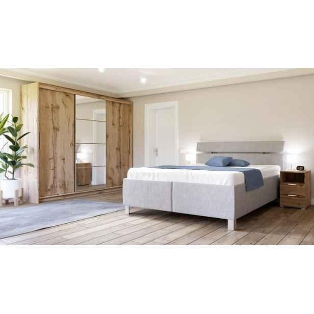 Čalouněná postel Anne 180x200, šedá, vč. matrace, pol. roštu