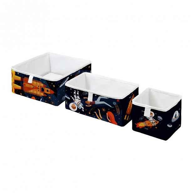 Sada 3 dětských úložných boxů Mr. Little Fox Space Adventure