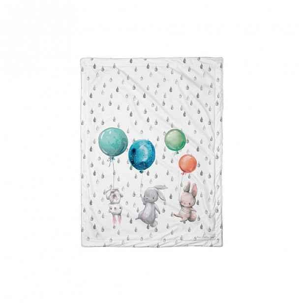Dětská přikrývka Mr. Little Fox Flying Bunnies, 100 x 70 cm