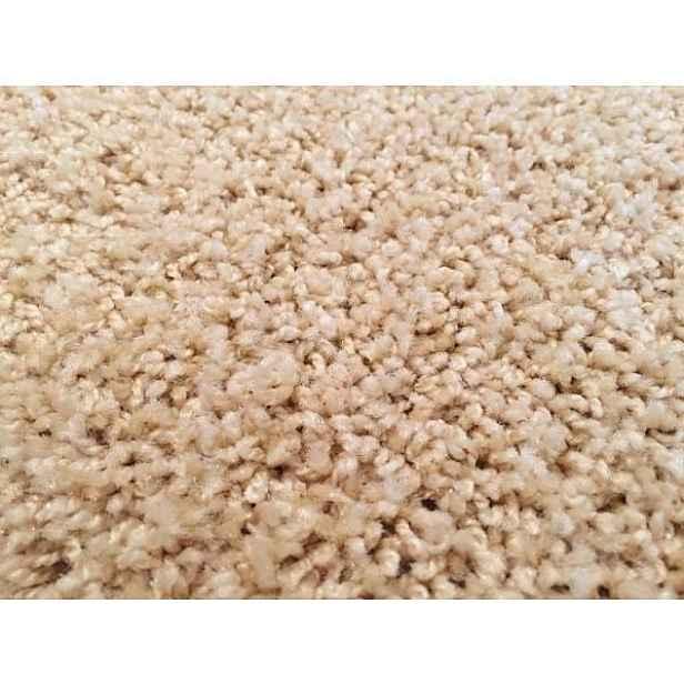 Kusový koberec Color Shaggy béžový Kulatý průměr 80 cm