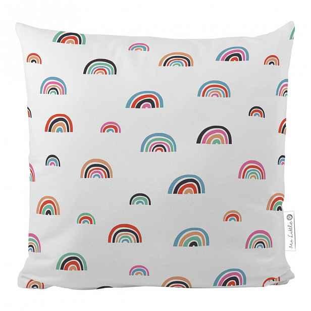 Bavlněný dětský polštář Mr. Little Fox Cute Rainbows, 45 x 45 cm