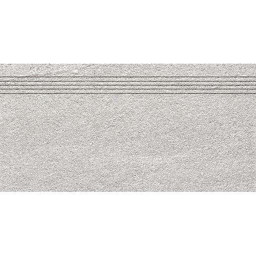 Schodovka Rako Quarzit šedá 30x60 cm mat DCVSE737.1