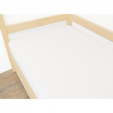 Bílé prostěradlo z mikroplyše,90x180cm