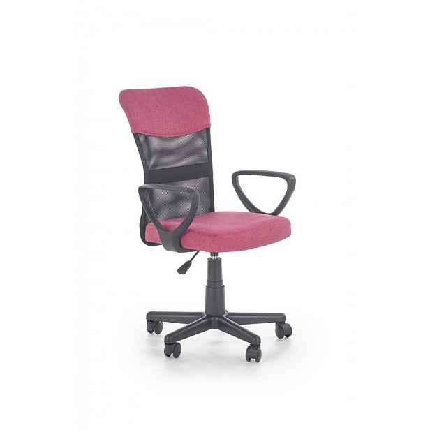 Dětská židle Tampa, růžová / černá HELCEL
