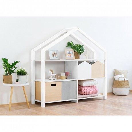 Bílá dřevěná dětská knihovna Benlemi Shelly,146,2x39x137,2cm