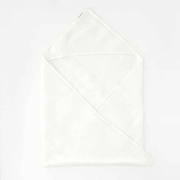 Dětský bílý lněný ručník Linen Tales Waffle,70x70cm