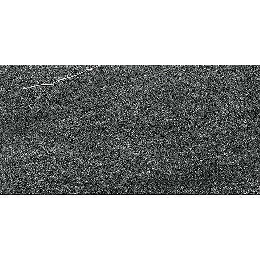 Dlažba Rako Quarzit černá 30x60 cm mat DARSE739.1