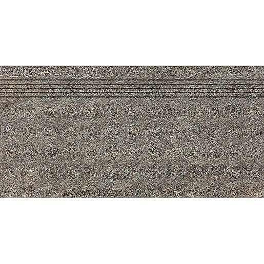 Schodovka Rako Quarzit hnědá 30x60 cm mat DCVSE736.1