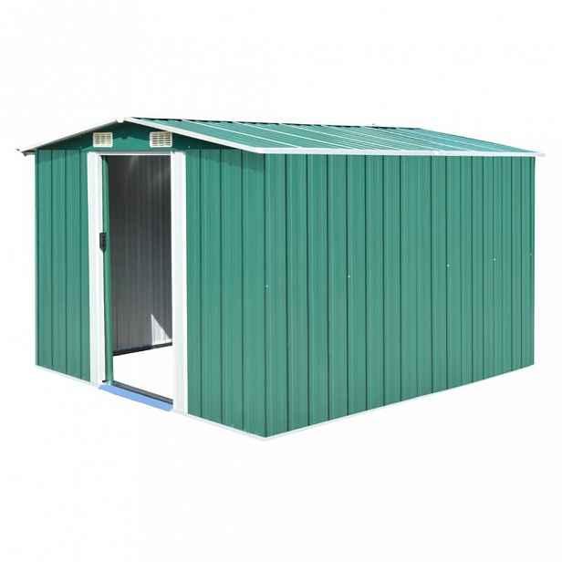 Zahradní domek 257 x 298 x 178 cm ocel Zelená