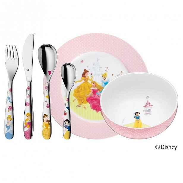6dílná sada dětských nerezových příborů a nádobí WMF Princess
