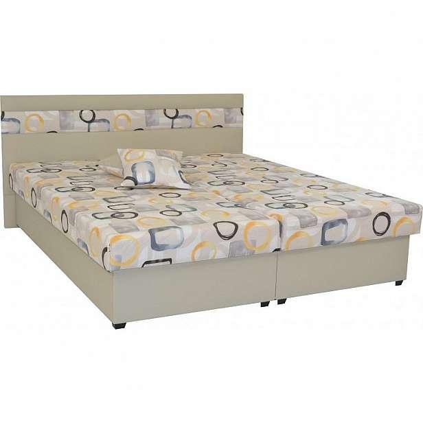 Čalouněná postel Mexico 180x200, béžová, včetně úp