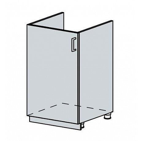 VERONA, dolní dřezová skříňka 50 DZ, bílá/zlatý jasan