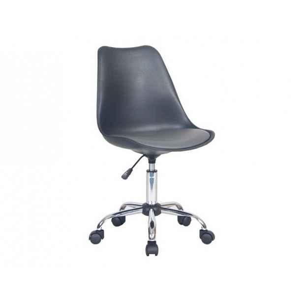 Konferenční židle DARISA, černá / tmavě šedá - 48x54x87,5-102,5 cm