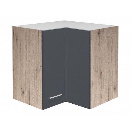 Horní rohová kuchyňská skříňka Tiago HE60, dub sonoma/šedá, šířka 60 cm