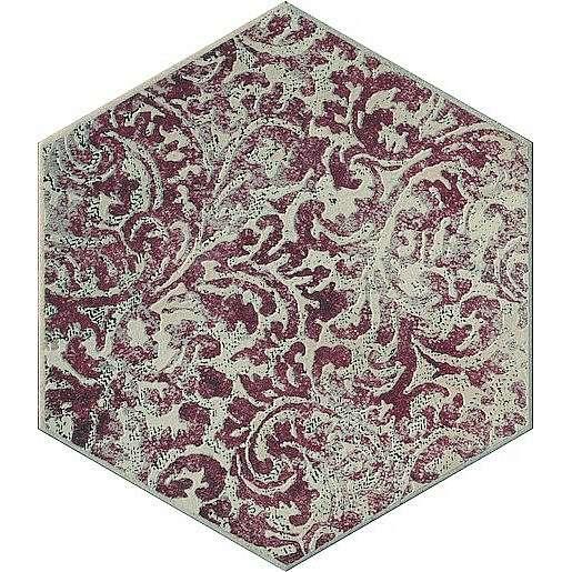 Dekor Cir Miami red hexagon colins 24x27,7 cm mat 1064135