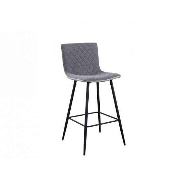 Barová židle TORANA, světlešedá/sivá /černá