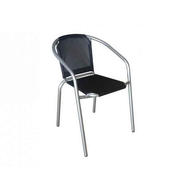 Židle KERTA, černá / stříbrná