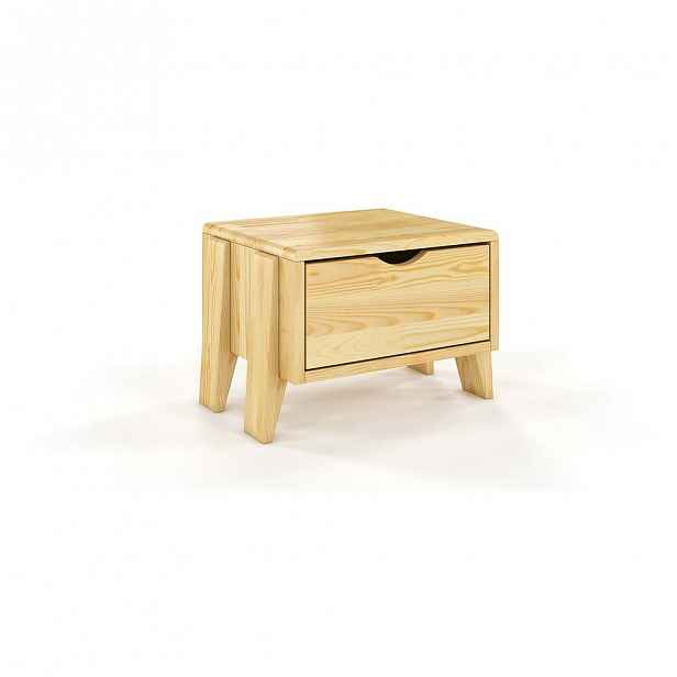 Noční stolek z borovicového dřeva se zásuvkou Skandica Visby Sopot