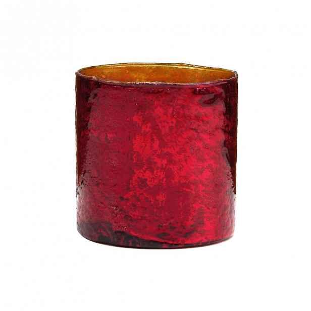 Butlers DELIGHT Skleněný votivní svícen 10 cm - červená