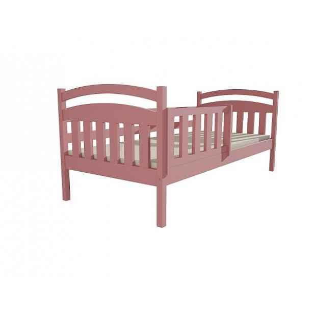 Dětská postel DP 001 růžová, 90x200 cm