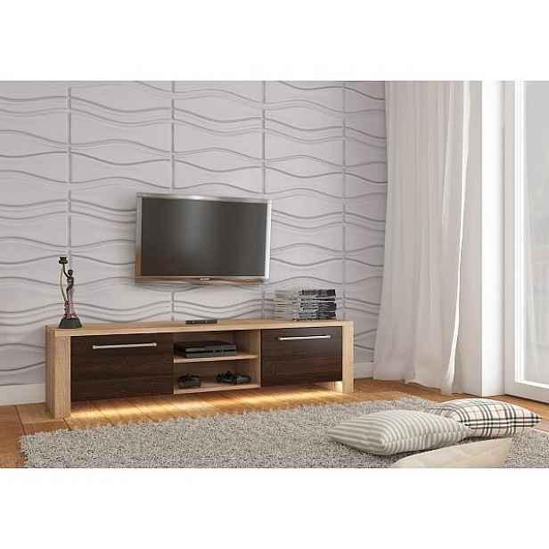 TV stolek Helix New bez osvětlení, dub sonoma-dub sonoma tmavý