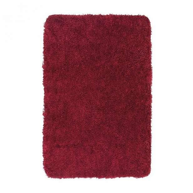 Červená koupelnová předložka Wenko Mélange, 65x55cm