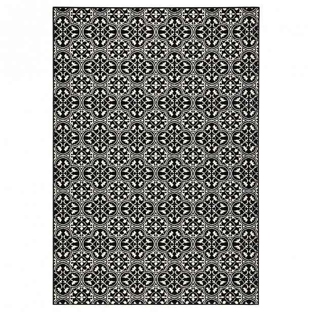 Černý koberec Hanse Home Gloria Pattern, 80x150cm