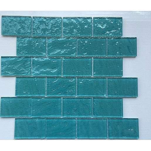 Skleněná mozaika tyrkysová 30x30 cm lesk MOS4872TU