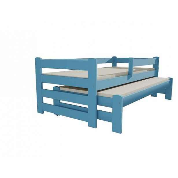 Postel s výsuvnou přistýlkou DPV 001 modrá, 90x200 cm