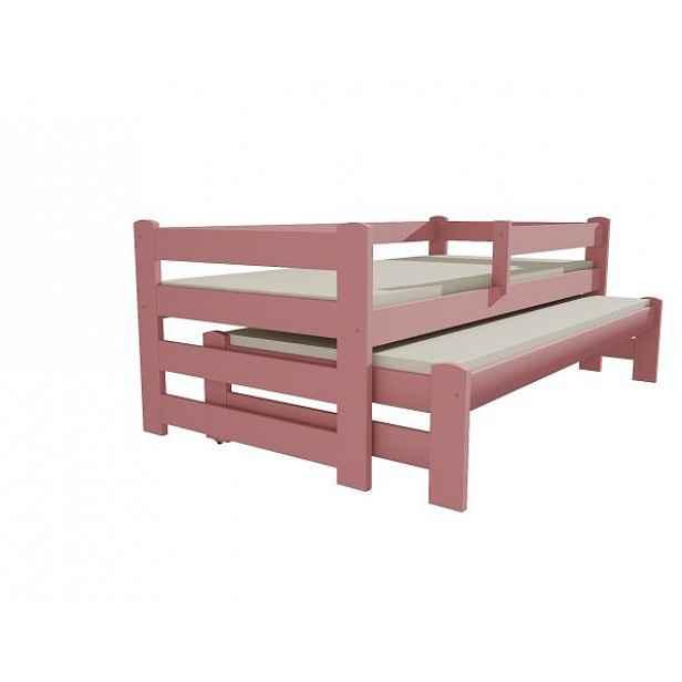 Postel s výsuvnou přistýlkou DPV 001 růžová, 90x200 cm
