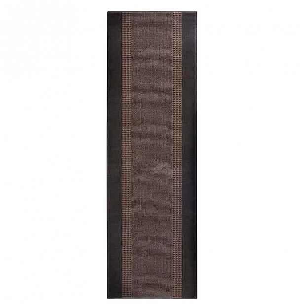 Koberec Basic, 80x250 cm, hnědý