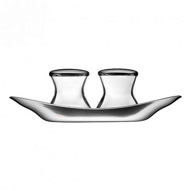 Solnička a pepřenka z nerezové oceli WMF Cromargan® Wagenfeld