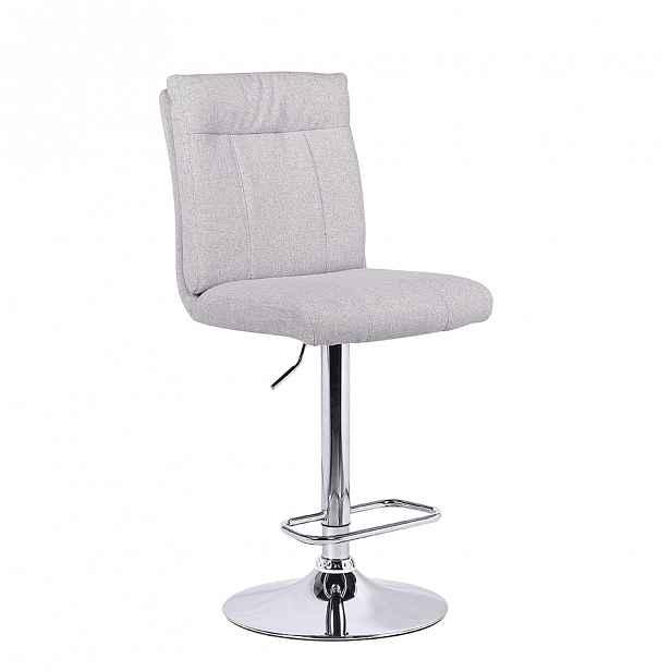 Barová židle ANGUS béžová / stříbrná Tempo Kondela