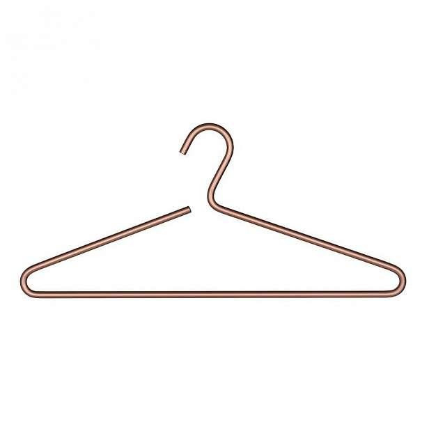 Hliníkové ramínko na oblečení v měděné barvě Wenko Lux